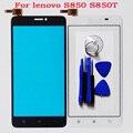 """O envio gratuito de tela sensível ao toque para lenovo s850 s850t sensor de tela de toque do painel frontal digitador de vidro acessórios do telefone móvel 4.3"""""""