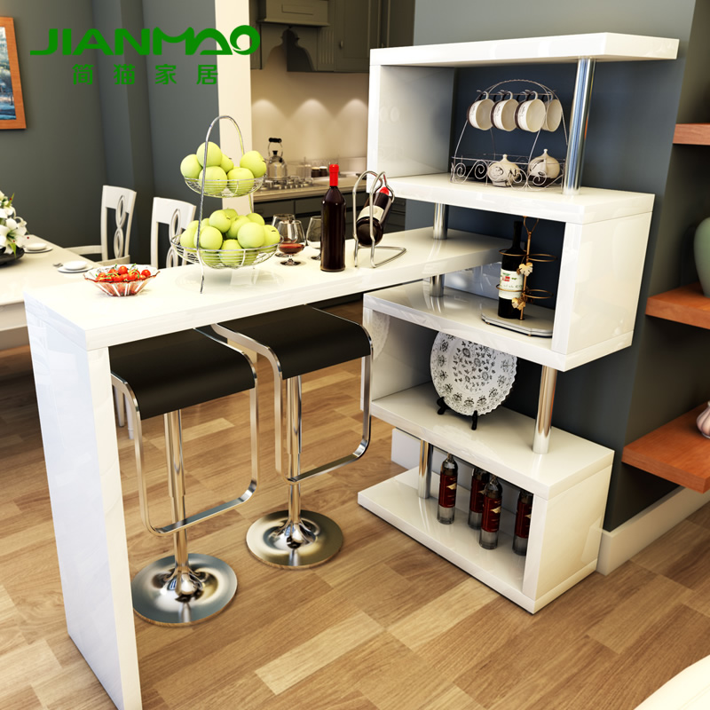 Simple modern stylish living room corner cabinet rotating for Barras modernas para living