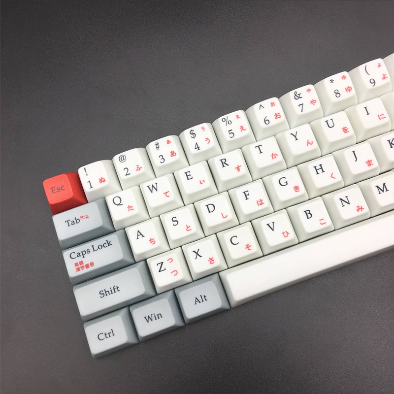 Japanese PBT 64 Keycap Sa Profile R3 1u keycaps 1 75 Shift 68 Key Cap  Mechanical Keyboard Special Keycaps For Teclado Mecanico
