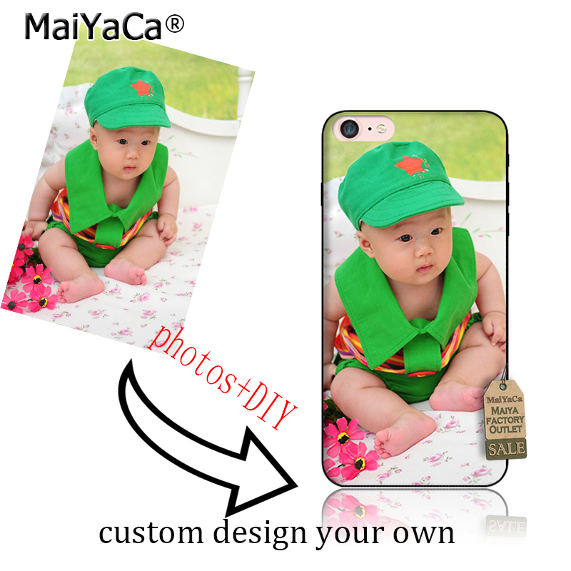 MaiYaCa Personalized Custom Picture Phone Case Create Your Own Photo Custom Case-Shock Absorbing silicone TPU Case for iphone