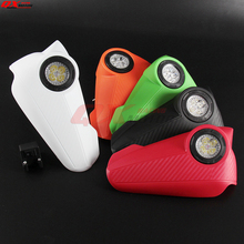 1 Pair New Mutil Color LED Light Vision Handguard Mostorcycle Vision Led Handguards Hand Guard with light mostorcycle vision led handguards hand guard with light fit supermoto for ktm adv duke lc4 200 640 690 990 smr free shipping