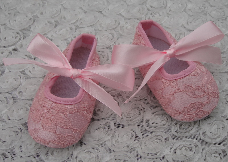Cute Baby Lace Silk Shoes Infant Toddler Cotton First Walkers With Ribbon Bow Kids Prewalker Crib Shoes 0/18M 6Pairs/lot