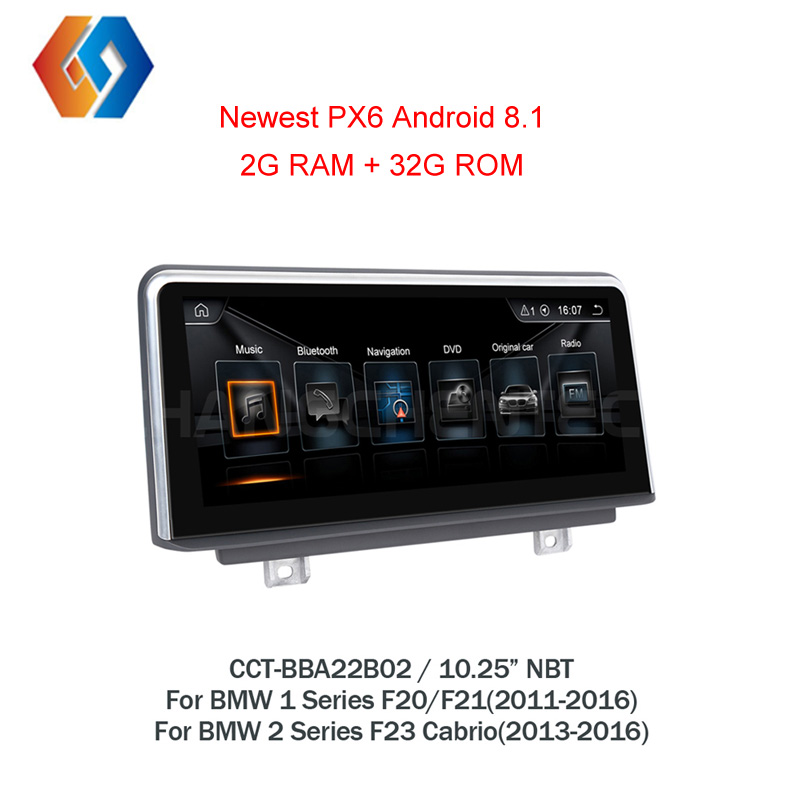 For BMW F20 F21 2011-2016 F23 2013-2016 1 2 series Factory Outlet 1 Din Autoradio 8.1 GPS Android NBT CIC Car Stereo Unit LHD2