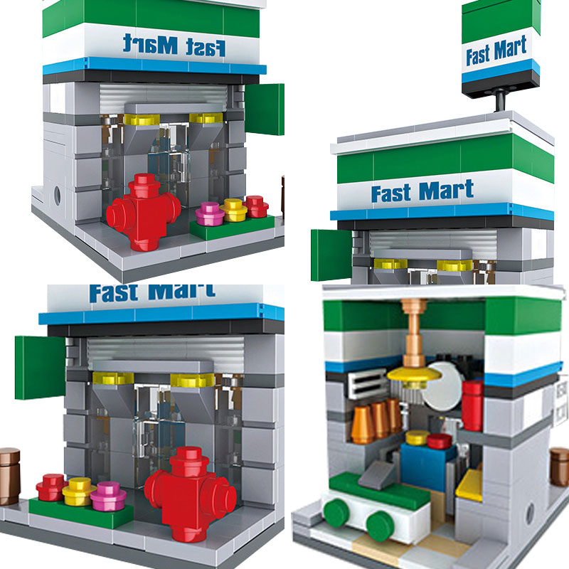Lovely Legoe City Street View Series Hsh6407 Mini Fast Mart Shop Model Building Blocks Bricks Toys For Children Compatible With Legoing Special Buy Back To Search Resultstoys & Hobbies