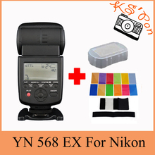 Yongnuo YN-568EX para Nikon, YN 568Ex HSS Speedlite de Destello YN 568 D800 D600 D700 D200 D80 D90 D7000 D5200 D5100 + 12 Unids Tarjetas de Color
