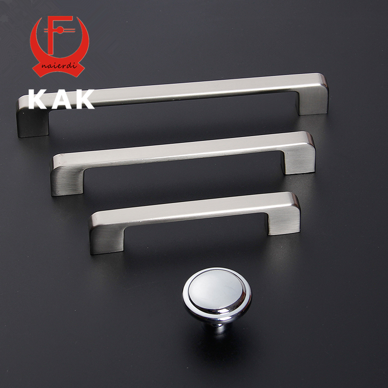 KAK 5pcs/lot Modern Zinc Alloy Cabinet Door Handles Drawer Knobs Wardrobe Pull Knobs Handles Fashion Furniture Handle Wholesale