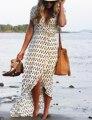 Vestido de praia sexy vestidos boho boêmio pessoas algodão mulheres vestido de verão longo blackless festa hippie chic vestidos mujer 2016