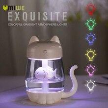350 мл милый кот ультразвуковой увлажнитель 3 в 1 ароматерапия диффузоры USB автомобильный освежитель воздуха светодио дный домашний светодиодный свет мини воздушный диффузор