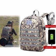 Lisse PUBG Games Three-level package backpacks Camouflage Zipper waterproof backpacks for outdoor travel 20-35 L capacity keukenhof lisse sunday