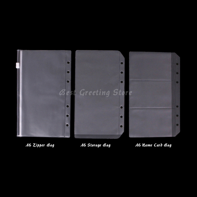Clear a6 ring binder pockets wholesale filofax accessoriesportable clear a6 ring binder pockets wholesale filofax accessoriesportable binder zipper pouchname card m4hsunfo