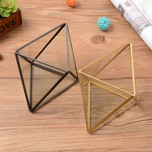 Geometric Glass Box Jewelry Decoration Cosmetic Storage Lace Copper  Desktop Gold And Black Wedding Gift