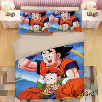 Mxdfafa Japanese Anime Dragonball Duvet Cover Set Bedding Set Cotton Comforter Bed Set Include 1 Duvet Cover and 2 Pillow case