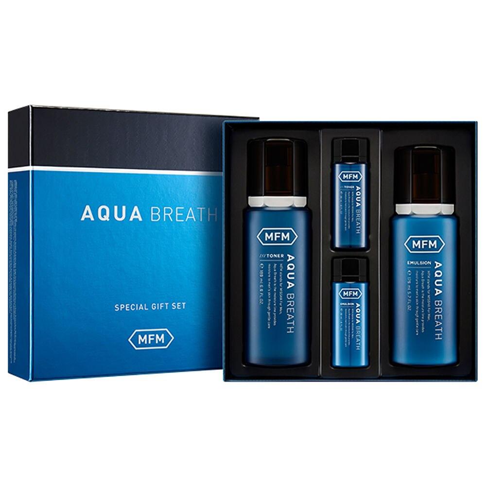 MISSHA For Men Aqua Breath Set Face Skin Care Revitalize Skin Moisturizing Face Toner Emulsion Anti-wrinkle Korea Cosmetics маска missha procure hydro moisturizing treatment объем 150 мл