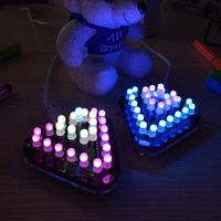 New Arrival DIY Touch Control RGB Full Color 5MM LED Triangular Pyramid Kit Electronics Stocks