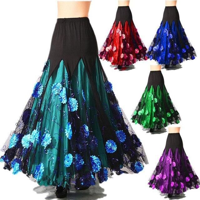 8327def14f27 salsa ballroom skirt long hem dansa ballroom dance skirts for women waltz  standard ballroom skirts women