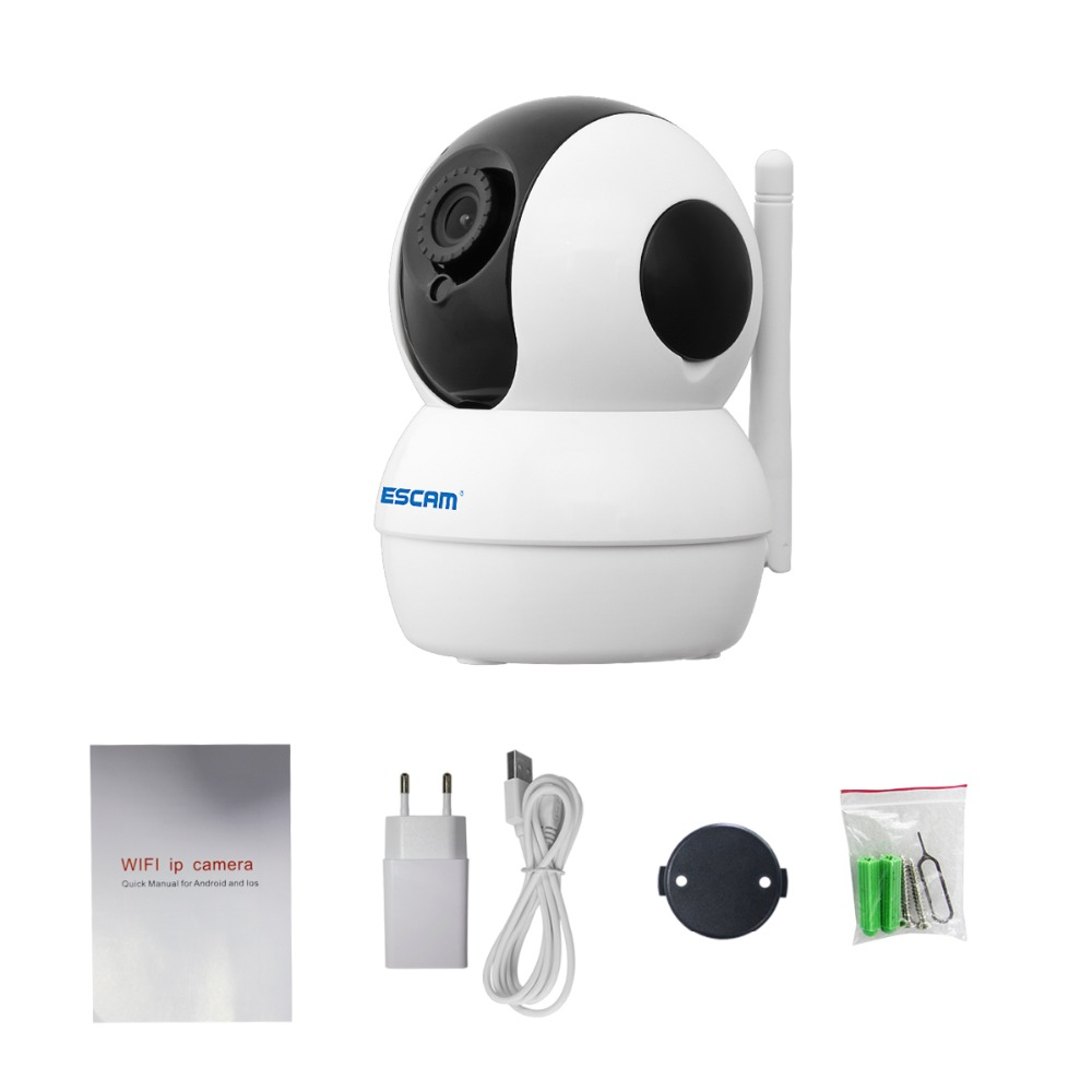 ESCAM 720P G50 WIFI Indoor Network IP Camera Infrared Pan/Tilt Wireless Camera With Two Way Audio Motion Detector Baby Monitor цена 2017
