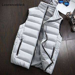 Image 3 - Mens Jacket Sleeveless Vest Winter Fashion Casual Slim Coats Brand Clothing Cotton Padded Mens Vest Men Waistcoat Big Size 666