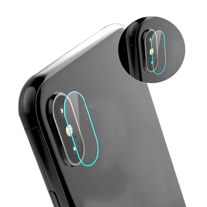 Rear Camera Lens Fiberglass Protective Film Flexible Soft Tempered Glass Screen Protector For iphone X 100PCS