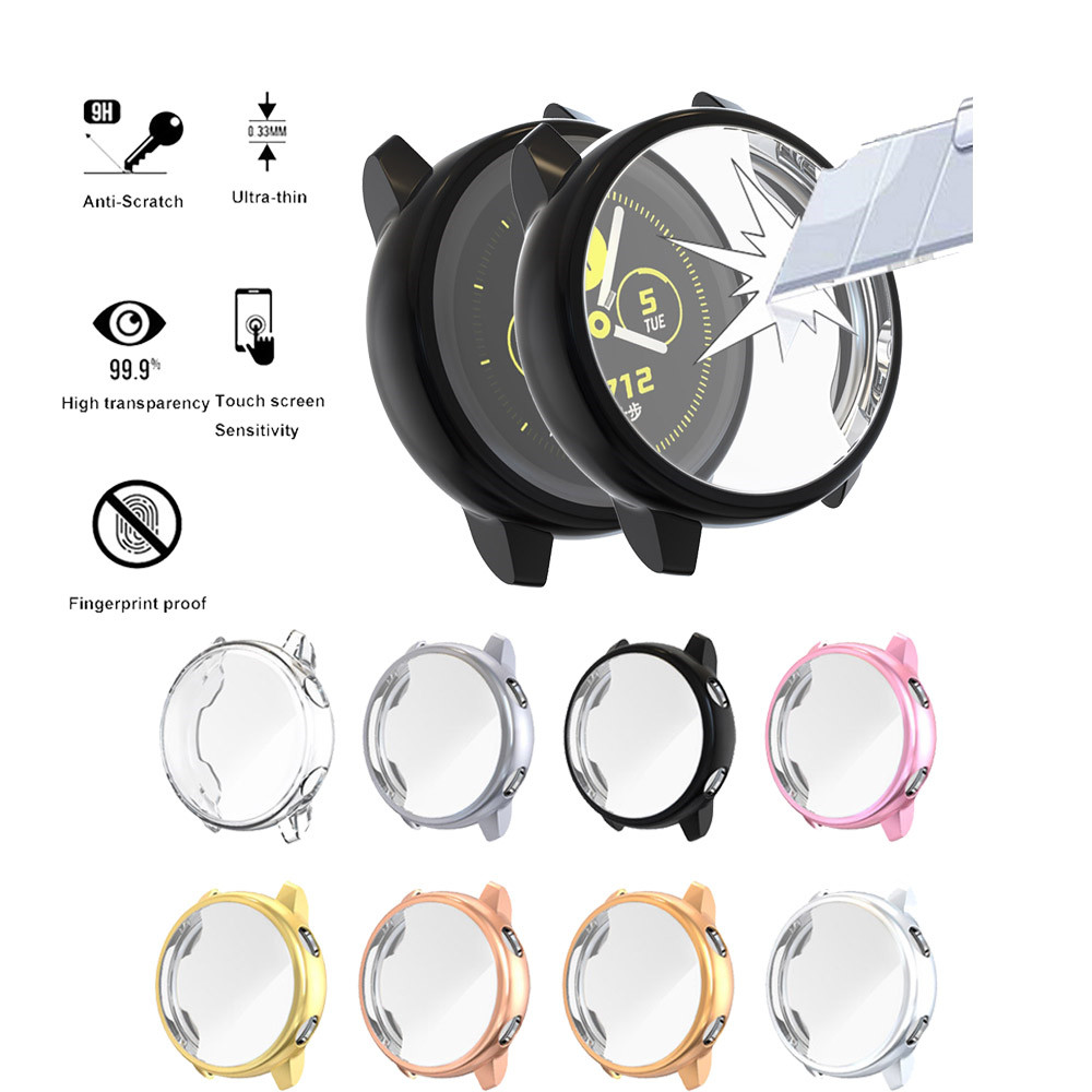 Image 3 - Protector case for samsung galaxy watch active Soft silicone Cover Ultra thin Screen Protection Frame for Galaxy Active 40mm-in Smart Accessories from Consumer Electronics
