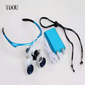XM Portátil Binocular Dental Lupas 3.5X420mm + LED Head Light Lamp + Frete Grátis por TDOU