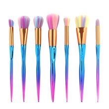 7pcs/set Cosmetic Makeup Brush Set Pinceaux Pincel Maquillage Facial Powder Foundation Eyeshadow Blush Make up Brushes