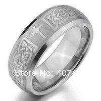 Free Shipping USA UK Canada Russia Brazil Hot Sales 8MM Silver Satin Cross Promise Bridal Men