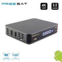 Freesat TV Box Android 6.0 4 K GTT DVB-T2 DVB-C Cavo Smart TV Box 1 GB/8 GB ROM DVB T2 H.265 2.4G WIFI HD TV Tuner Media lettore