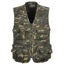 Unloading Tactical Vest Camo Coat Fashion Men Summer Waistcoat Mesh Work Sleeveless Jacket Tool Many Pocket Camouflage Vest Male