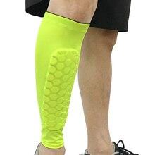 1Pcs Compression Running Calf Leg Sleeve Football Shin Guard Cycling Leg Warmers Soccer Sport Legwarmers Basketball Knee Pads