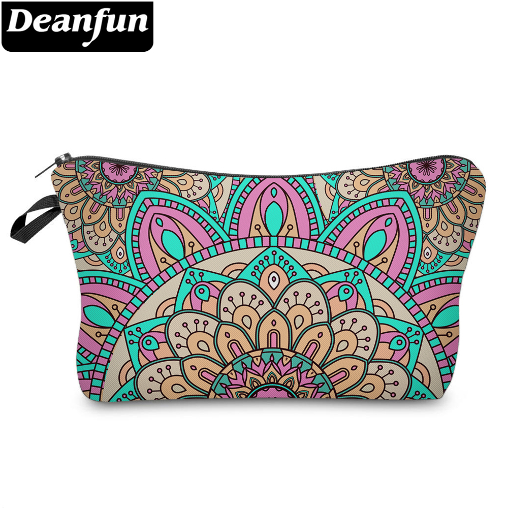 Deanfun 3D Printing Cosmetic Bags Colorful Flower Fashion For Women Travel Organizer Necessity  51272