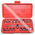 18pcs Oil Drain Plug Removal Tool Key Set Square Hexagon Socket Kit Nut Adaptor Tool