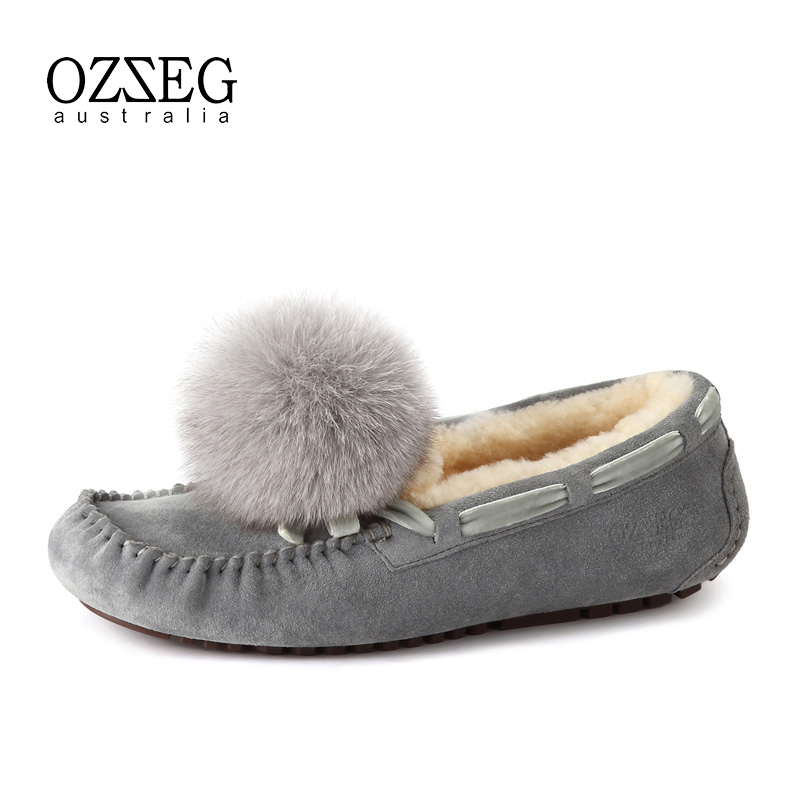 2017 Women Flats Genuine Leather Winter Shoes for Women 100% Real Fur Comfortable Slip on Loafers Warm Shoes Soft Slip on Shoes cresfimix zapatos women cute flat shoes lady spring and summer pu leather flats female casual soft comfortable slip on shoes