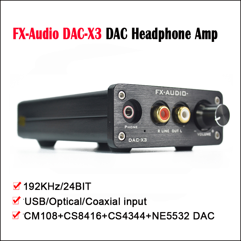 FX Audio DAC X3 Desktop DAC Amplificatore Per Cuffie Hi fi CM108 + CS8416 +  CS4344 + NE5532 Amplificatore Per Cuffie DAC USB ingresso Ottico in FX-Audio  ... 8be19070f29e