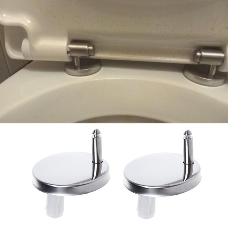 2Pcs Top Fix WC Toilet Seat Hinges Fittings Quick Release Hinge Screw