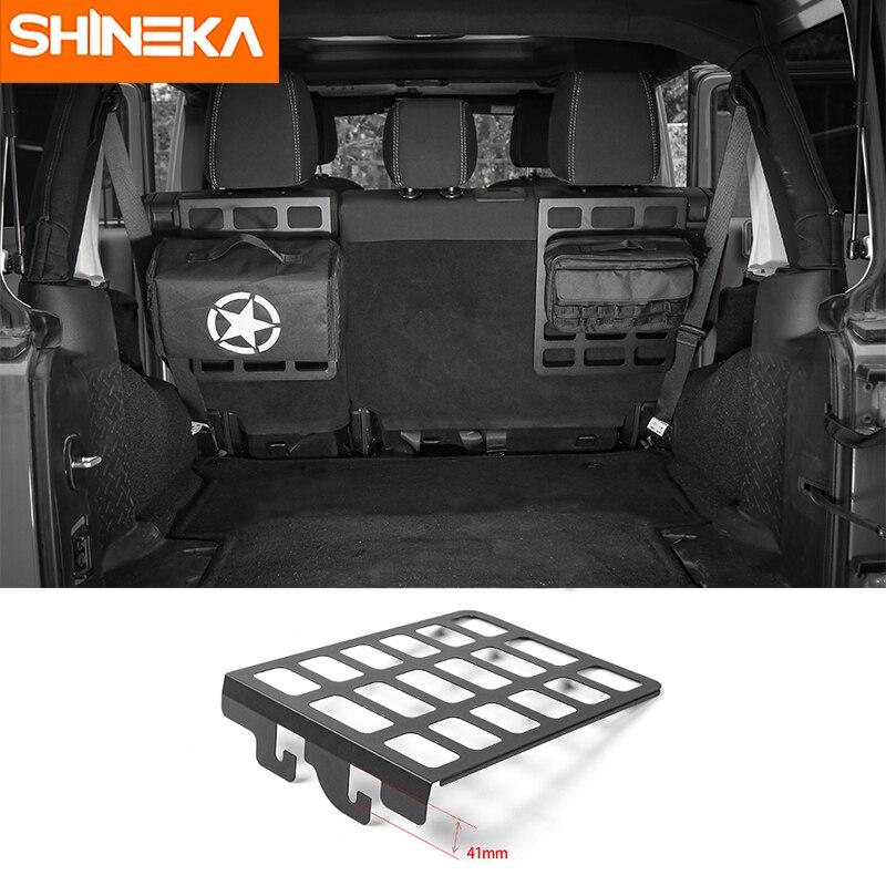 SHINEKA Best Sales Iron Seat Back Bracket Shelf Trunk Rack Luggage Carrier Holder Car Styling for