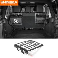 SHINEKA Best Sales Iron Seat Back Bracket Shelf Trunk Rack Luggage Carrier Holder Car Styling for Jeep Wrangler JK 2007+