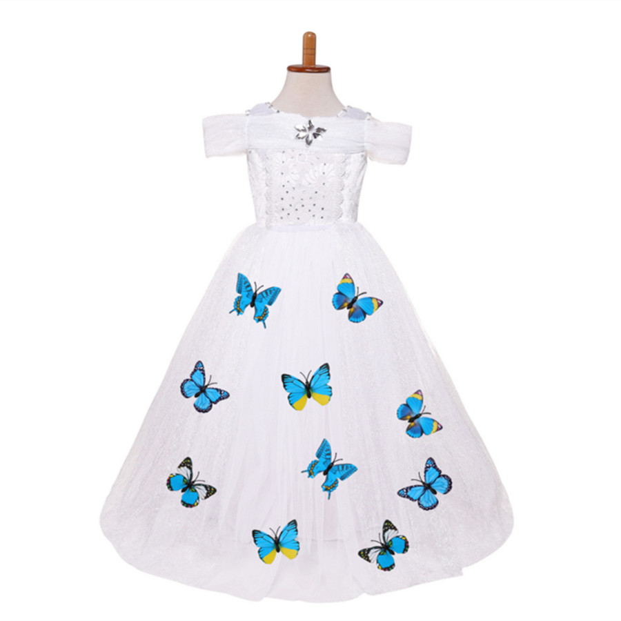3-10Y Girls Cinderella Princess Dress Baby Girls Party Wear Clothes Halloween Christmas Costume W Queen New Years Dress halloween wear cinderella princess dress for girl sleeping beauty christmas costume girls clothes fancy teenage party dresses