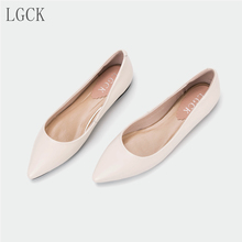 Plus Size 34-43 Genuine Leather Women Shoes Pointed Toe Oxford Flat Fashion Strange Style In with Casual Shoes comfortable mujer
