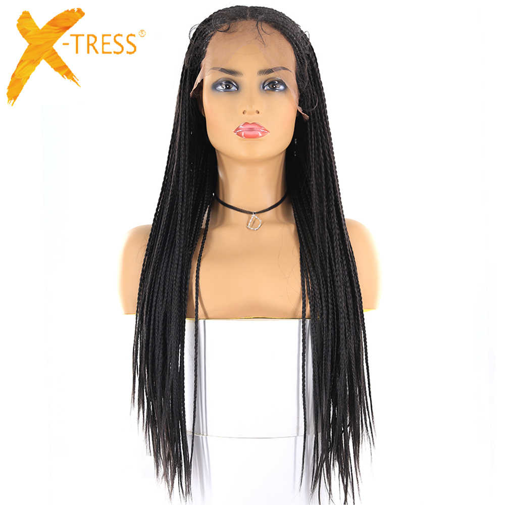 13x6 Lace Front Synthetic Hair Wigs For Women X Tress Natural