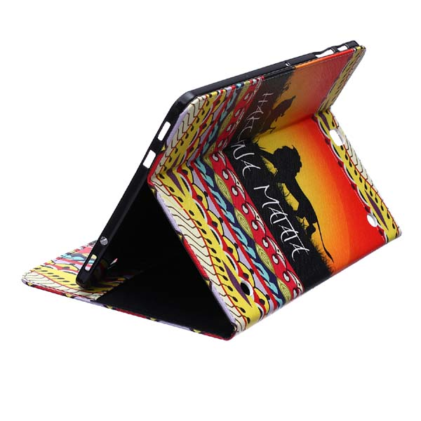 Colorful Print Wallet Book Card Slot Business Cover Stand PU Leather Case For Samsung Galaxy Tab S2 9.7 T810 T815 Tablet tx soft pink black tpu back case color print tablet cover for samsung galaxy tab s2 9 7 t815c t819c t810 t813 with card slot