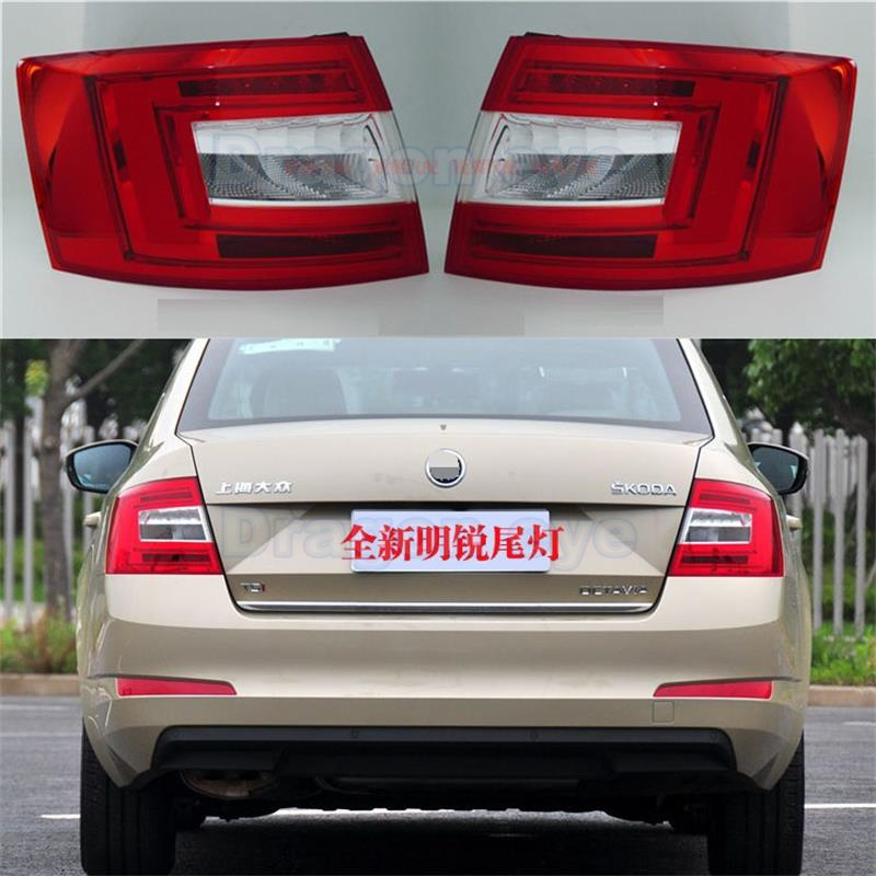 Genuine OEM Original LED Light For Skoda Octavia A7 Sedan 2013 2014 2015 2016 New LED Rear Light Tail Light Assembly Car Styling free shipping for skoda octavia sedan a5 2005 2006 2007 2008 left side rear lamp tail light