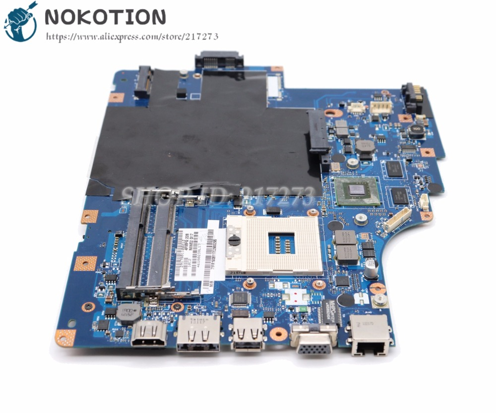 NOKOTION For Lenovo G560 Z560 Laptop Motherboard NIWE2 LA-5752P Rev:1.0 MAIN BOARD HM55 DDR3 with GT310M Video Card japanese silicone sex dolls robots anime full size oral love doll realistic adult for men big breast ass sexy vagina real pussy