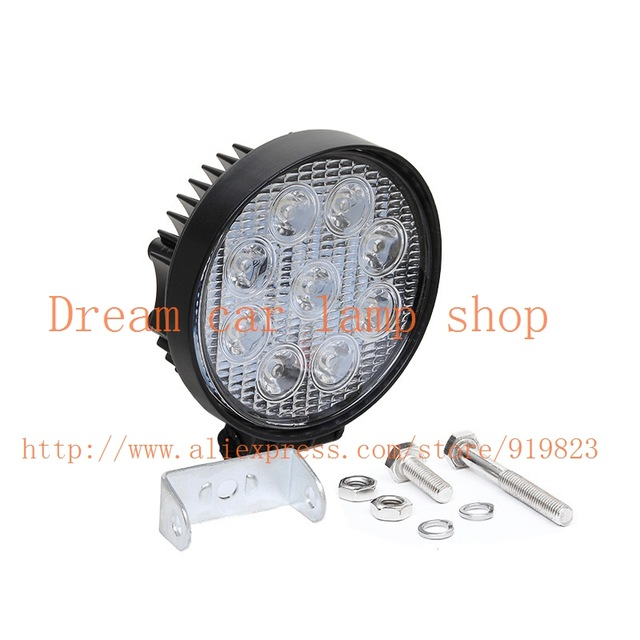 15017 4 inch 27 watt high power 12 v, 24 v, arbeitslicht round led light lamp arbeitsscheinwerfer off-road for off road motorcyc 100w driver for high power led 100 watt led light lamp ac 85v 265v
