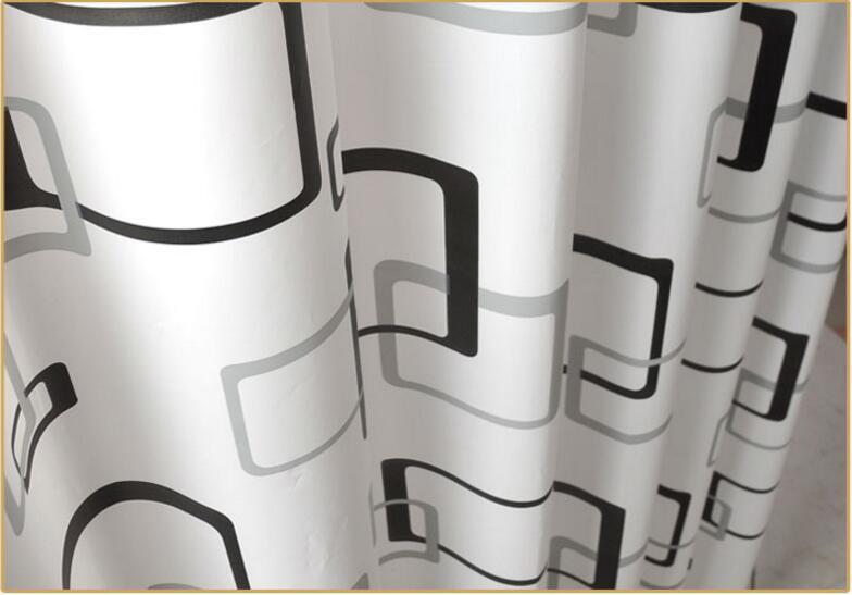 Nieuwe Schimmel Badkamer : Gloednieuwe peva badkamer gordijn luxe wit en zwart geometrie