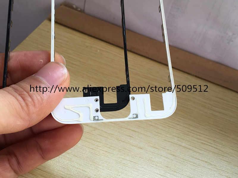 10/50 pcs 100% une qualité avant lunette avec colle chaude cadre moyen pour iPhone 6 s 6 s plus milieu cadre châssis lunette écran tactile LCD