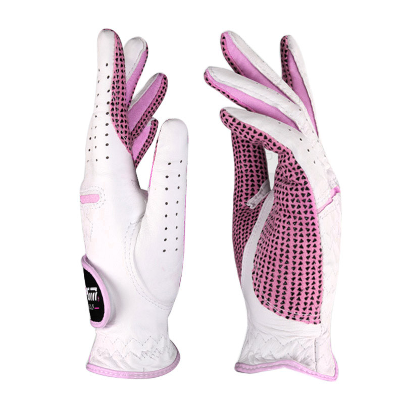 1pair PGM Golf Gloves Women Breathable Left Right Hand Gloves Non-slip Ladies Golf Gloves Sport Golf Accessories Free Shipping