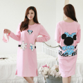 Autumn new cartoon hug Minnie nightgown Big yards leisure long-sleeved female household to take