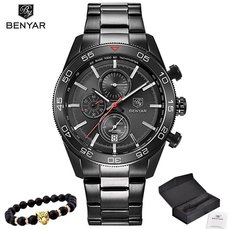2017 Relojes de Los Hombres de Lujo de Primeras Marcas BENYAR - Relojes para hombres