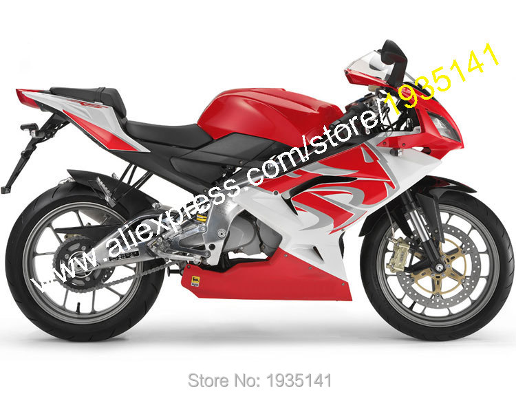 Hot Sales,For Aprilia RS125 Body Kit 2007 2008 2009 2010 2011 RS 125 07-11 Red Lion head Motorbike Fairing (Injection molding)