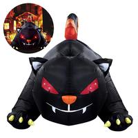 Nicexmas 1.8 м Хэллоуин Надувные Черный кот дворе Хэллоуин партии Декор с США Plug
